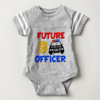 Future chemise drôle de bébé de policier body