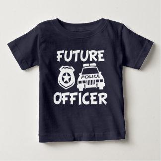 Future chemise drôle de bébé de policier t-shirt pour bébé