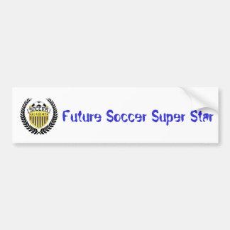 Future étoile du football autocollant de voiture