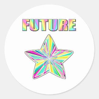 Future étoile sticker rond