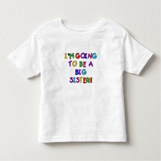 Future grande soeur des textes t-shirt pour les tous petits