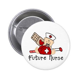 Future infirmière badge avec épingle