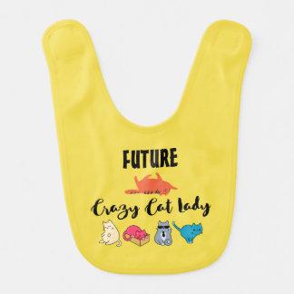 Future Madame folle de chat - Kitty mignon sur le Bavoir Pour Bébé