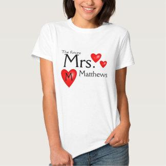 Future Mme Name Bride Wedding Shirt T-shirts