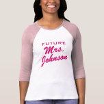 Future Mme T-shirt pour la jeune mariée