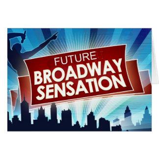 Future sensation de Broadway Carte De Vœux