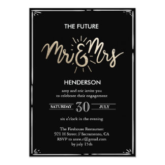 Futurs M. et Mme Engagement Invitation