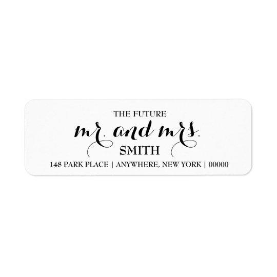 Futurs M. et MME étiquettes de adresse de retour