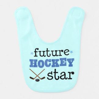 Futurs sports d'étoile de hockey sur glace bavoirs