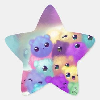 Fuzzies mignons sticker en étoile