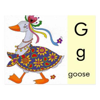 G est pour l'oie cartes postales