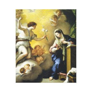 Gabriel prévoit la naissance de Jésus Impressions Sur Toile