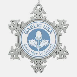 GaelicUSA Snowflake Charm Ornement Flocon De Neige