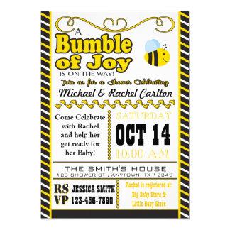 Gaffez de l'invitation de baby shower de joie carton d'invitation  12,7 cm x 17,78 cm