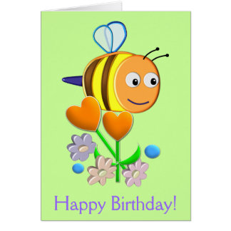 Gaffez la carte d'anniversaire d'abeille