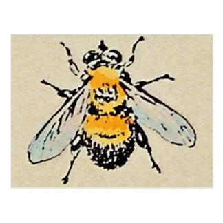 Gaffez la carte postale d'abeille