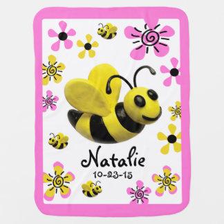Gaffez la douche de bébé d'abeille couverture pour bébé