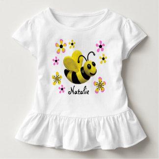 Gaffez la douche de bébé d'abeille t-shirt pour les tous petits