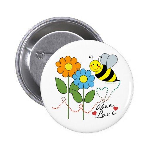 Gaffez l'abeille avec amour d'abeille de fleurs pin's avec agrafe