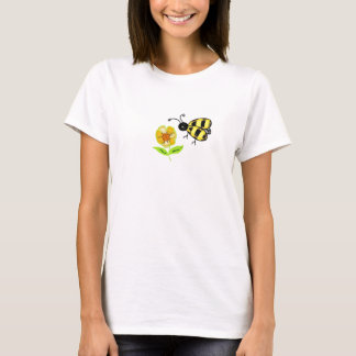 Gaffez l'abeille avec la fleur jaune t-shirt