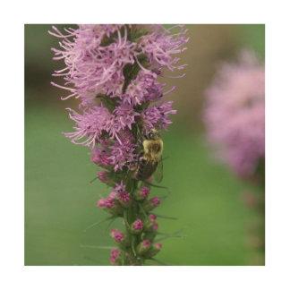 Gaffez l'abeille, copie en bois de photo décoration murale sur bois