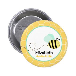 Gaffez le bouton d'abeille badge rond 5 cm