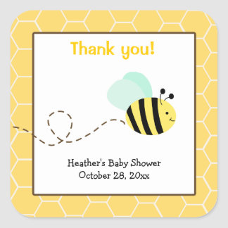 Gaffez les autocollants carrés de faveur d'abeille