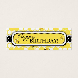 Gaffez l'étiquette maigre 2 de cadeau d'abeille mini carte de visite