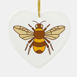 Gaffez l'icône d'abeille ornement cœur en céramique