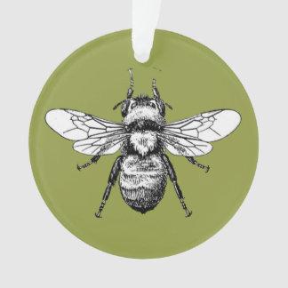 Gaffez l'ornement d'arbre de Noël d'abeille