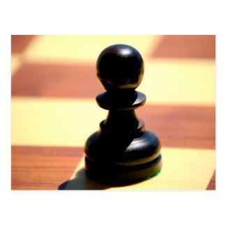 Gage d'échecs carte postale