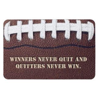Gagnants non jamais stoppés magnets rectangulaire