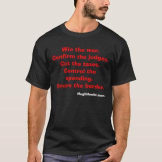 Gagnez la guerre. Confirmez les juges. Coupez les T-shirt