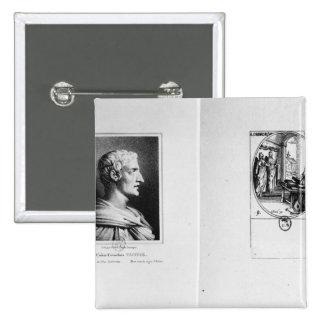 Gaius Cornélius Tacite gravé par Julien Badge Carré 5 Cm