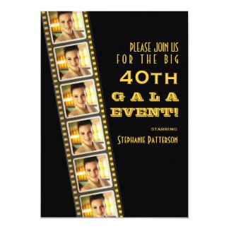 Gala de photo d'anniversaire de célébrité de carton d'invitation  12,7 cm x 17,78 cm