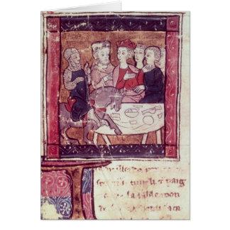 Galahad vient à Arthur Carte De Vœux