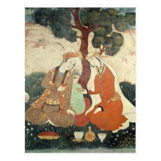 Galante de scène de l'ère de Shah Abbas I Carte Postale