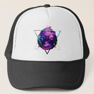 Galaxie de crâne d'univers casquettes de camionneur