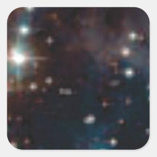 galaxie de manière laiteuse sticker carré