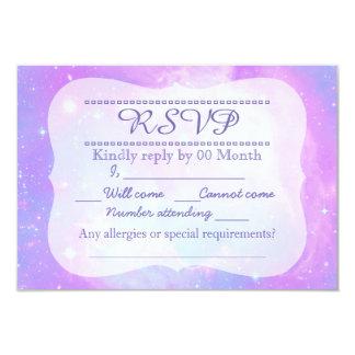 Galaxie en pastel magique RSVP de l'espace Carton D'invitation 8,89 Cm X 12,70 Cm