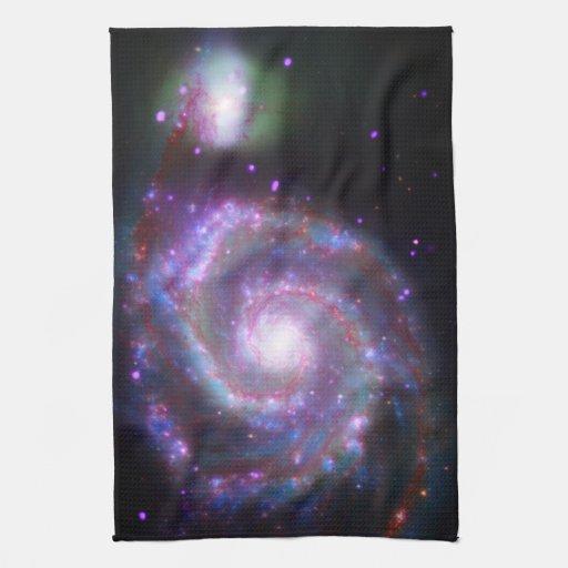 Galaxie en spirale classique serviettes pour les mains