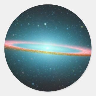 Galaxie en spirale NGC 4594 de sombrero Sticker Rond