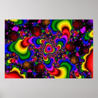 Galaxie psychédélique poster