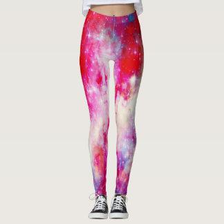 Galaxie rouge leggings