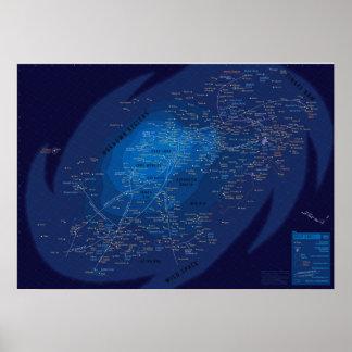 Galaxymap, Papier poster (mat)