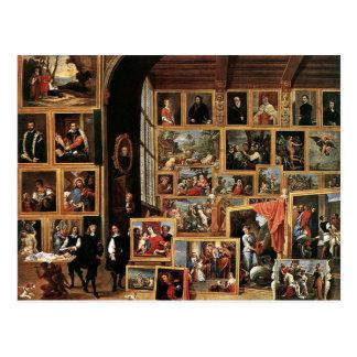Galerie d'archiduc Leopold à Bruxelles, 1640 Cartes Postales