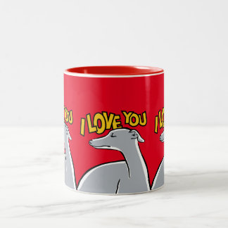 Galgos I love you ! Tasse 2 Couleurs