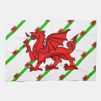 Gallois barre le drapeau linge de cuisine