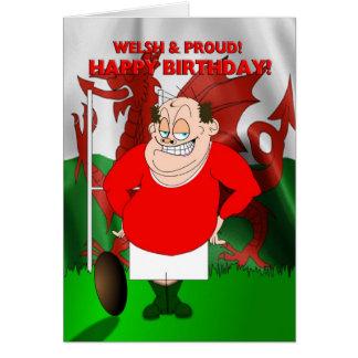 Gallois et carte d'anniversaire fière de rugby