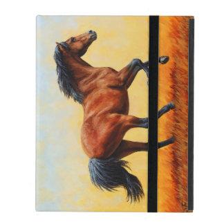 Galoper de cheval de baie étui iPad